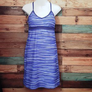 Athleta Blue Stripped Active Dress Size Small
